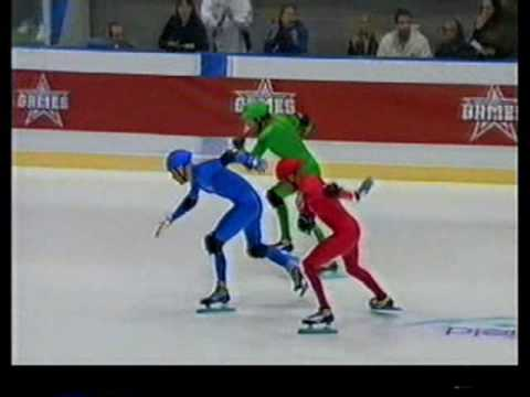 Boyzone - The Games 2004 - Speed Skating - Shane Lynch and the boys