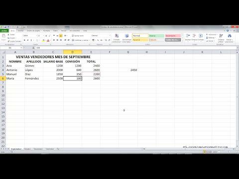 Curso Excel 2010 Básico Video 9. Hojas, formatos y cálculos.