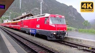 4K Bahnhof Filisur, RHB Schmalspurbahn.