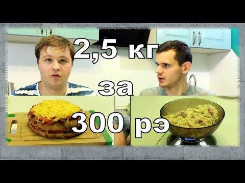 НИЩЕКУХНЯ. 2,5 кг еды за 300 рублей (Карбонара, пицца, молочный коктейль)