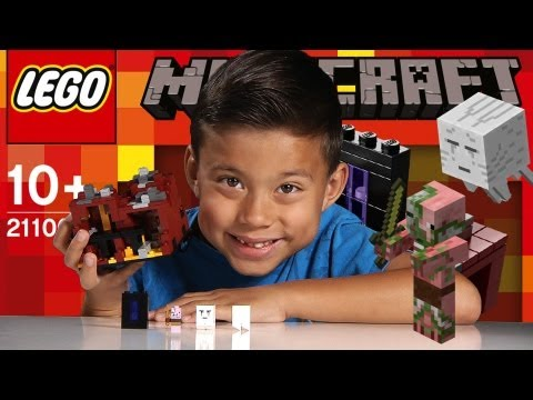 THE NETHER - LEGO Minecraft Set 21106 - Unboxing. Review. Time-Lapse & Stop Motion
