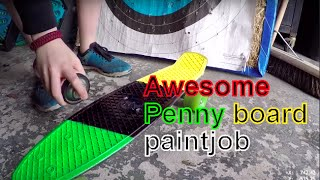 SPRAY PAINTING PENNY BOARD DECK!