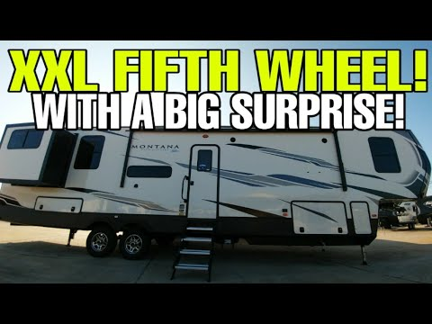 THIS RV IS HUGE! Montana High Country Fifth Wheel commands the road!