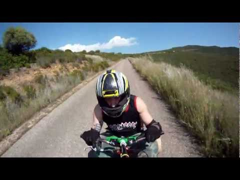 Extreme On Board Camera Drift Trike Downhill In Nuxedda Sardinia Island (GO PRO HD)
