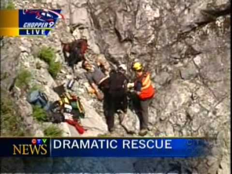 Aug 5  09 ~ Hiker falls 45 metres down North Shore mountain