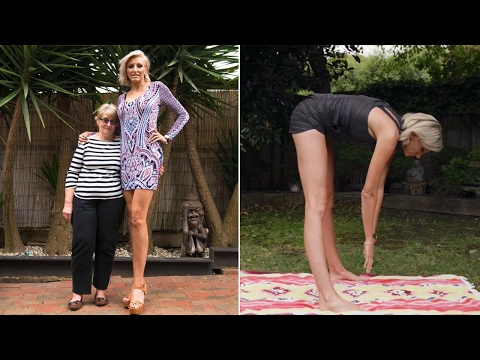 Australian beauty's legs are taller than some people