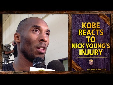 Lakers Practice: Kobe Bryant Reacts To Nick Young's Injury