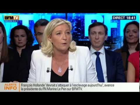 Marine Le Pen sur BFM Politique