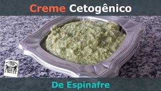 Creme de Espinafre Cetogênico - Muito fácil e gostoso!