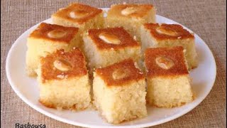 How to make BASBOUSA /EASY BASBOUSA RECIPE /COOK WITH FOZIA