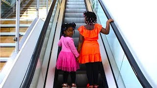 Toys AndFun Sisters Pretend Play HIDE AND SEEK And Doing Shopping At The Big Supermarket