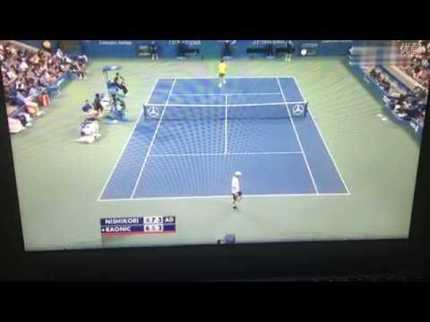 【錦織圭】2014全米オープン 4回戦 VS ミロシュ・ラオニッチ 4-6、7-6(7-4)、6-7(6-8)、7-5、6-4のキャプチャー
