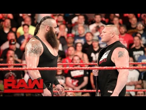Braun Strowman puts Brock Lesnar on notice: Raw. April 3. 2017
