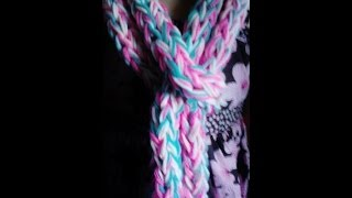 D.I.Y.Bufanda Hecha Con Mis Dedos Facil/Easy Scarf Made With My Fingers !!!