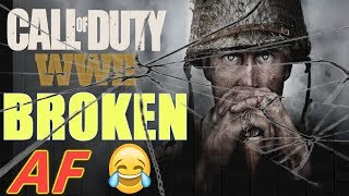 """COD WW2 Broken AF! Call of Duty: WW2 """"Grease Gun"""" Multiplayer Gameplay (PS4 PRO)"""
