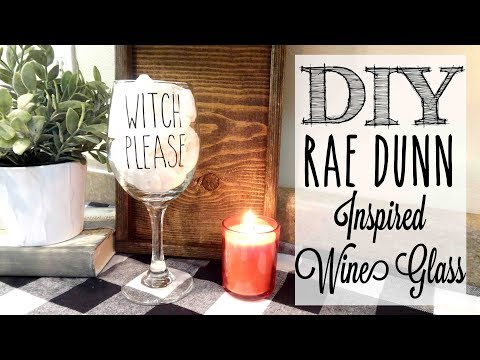 DIY Rae Dunn Inspired Wine Glass   *GIVEAWAY*
