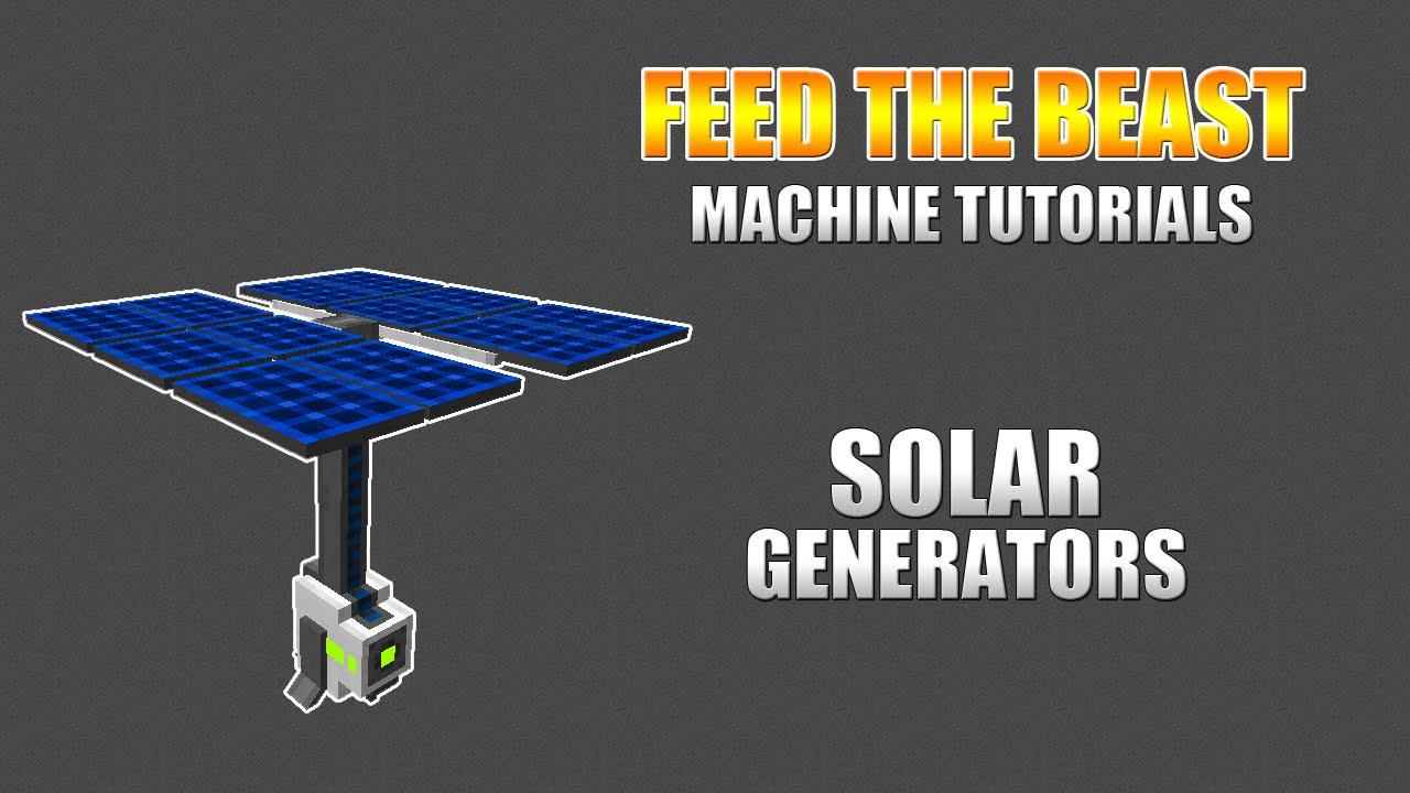 ... Minecraft - Machine Tutorials - Mekanism: Solar Generator - YouTube