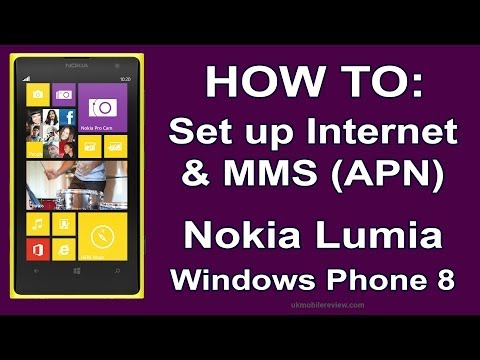 Nokia Lumia - How to Set up Internet & MMS