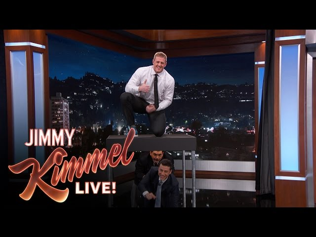 J.J. Watt Jumps Over Jimmy Kimmel & Guillermo