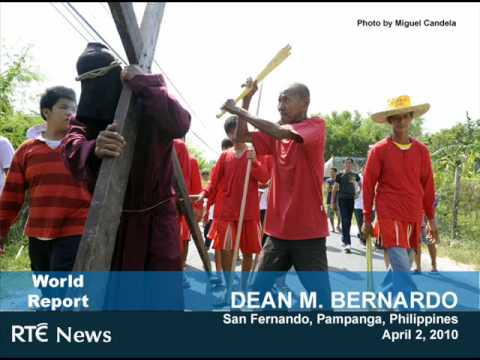 Dean Bernardo for RTE: Re-Enactment of Christ's Crucifixion on Holy Week Video