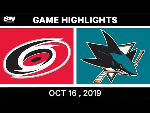 NHL Highlights  Hurricanes vs Sharks в Oct 16 2019