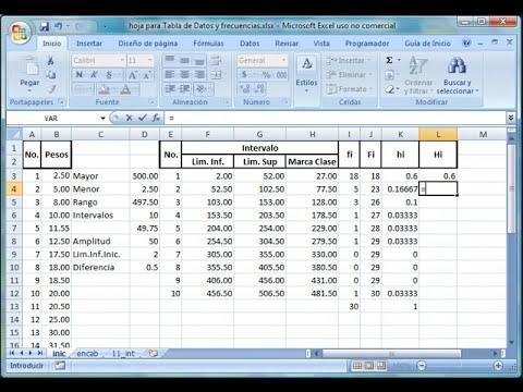Cómo Construir Una Tabla De Intervalos Con Excel 2007.swf