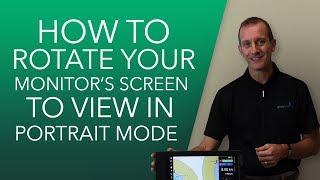 How to Rotate a Marine Monitor Screen