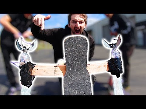 ROCKET POWERED SKATEBOARD EXPERIMENT
