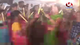 Bathukamma Celebration at Peddapalli  Live