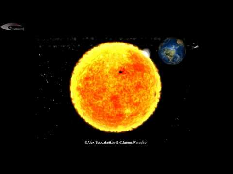 Review of Activity giant UFOs near the Sun - December 24, 2012.