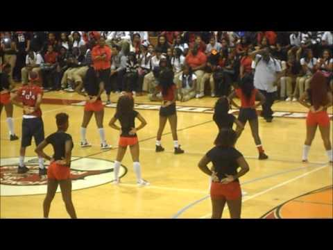 Miami Edison Senior High School Peprally Fight