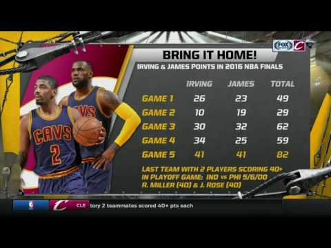 LeBron James and Kyrie Irving each score 41 points in Game 5 of 2016 NBA Finals