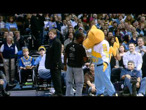 Fan out flips Rocky the Mascot