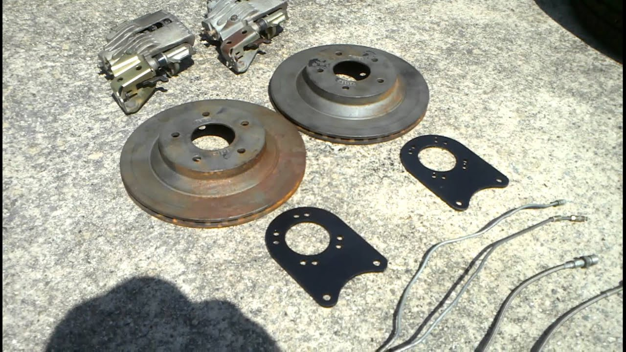 Rear Disc Brake Conversion Kit Staggered Shocks Youtube
