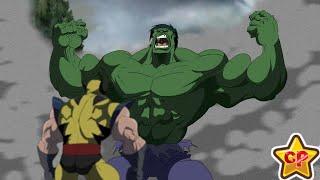 Marvels Hulk Vs Wolverine  Deadpool Animated  cartoon movie Fight Scenes (Edited) 2019