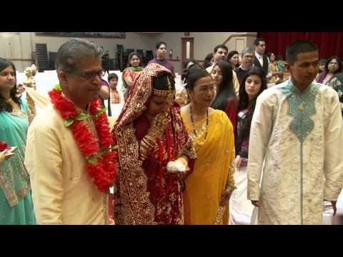 Bride's Entrance An Indian Wedding Ceremony at Vedic Cultural Center Markham Toronto Videographer
