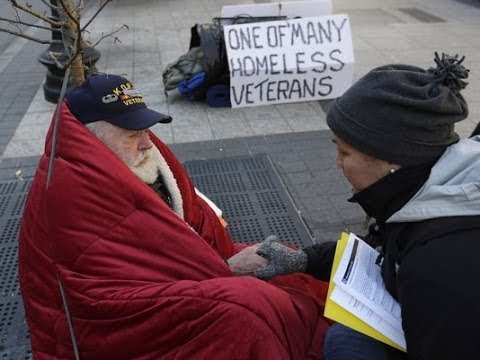 Шокирующая нищета американских ветеранов / Schocking beggary of U.S. veterans