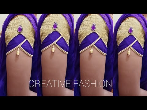 Royal look Bridal wear (Party wear ) sleeves design.