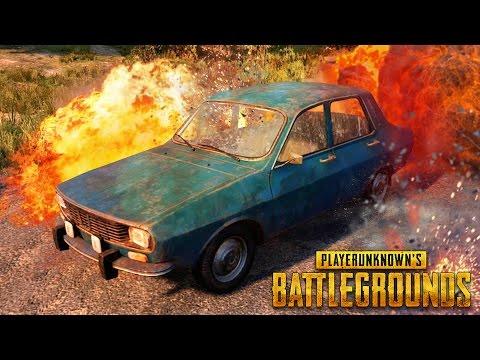 EPIC CAR STUNT! - PlayerUnknown's Battlegrounds Gameplay