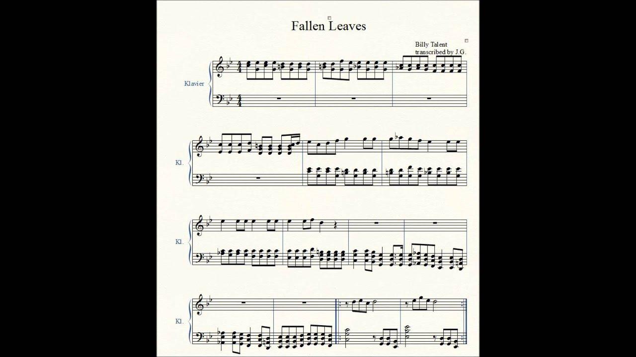 Billy Talent Fallen Leaves Billy Talent Fallen Leaves