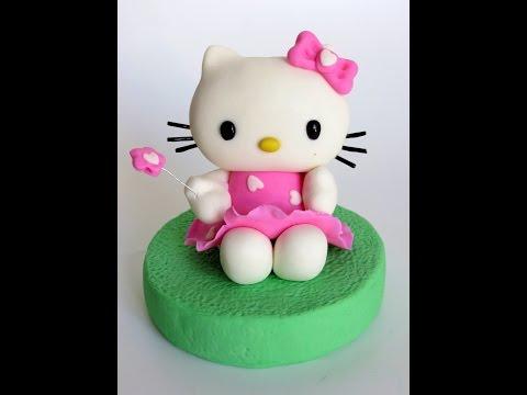 אנושקה - הלו קיטי מבצק סוכר/Hello Kitty fondant