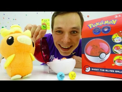 Видео про покемонов: охота на монстров! Распаковка покебола. Обзор игрушек Pokemon Go