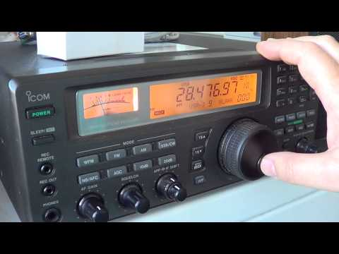 10 meters Amateur radio band scan nov 18 2012 1500 UT