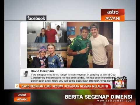 David Beckham luah kecewa ketiadaan Neymar melalui FB