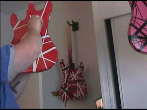 HOW TO PAINT A 5150 VAN HALEN GUITAR EVH PROJECT PART 6 OF 8 FINISH REMOVING THE TAPE Video