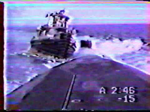 Sub sinks a tug boat (there goes the mail)