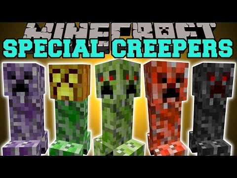 Minecraft: SPECIAL CREEPERS (4 FACED CREEPER, JUMPING CREEPER, BABY CREEPER, & MORE!) Mod Showcase