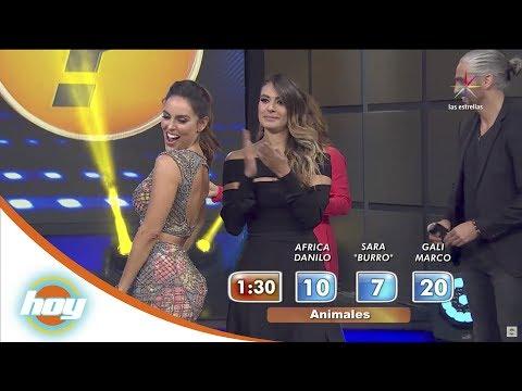 Sara Corrales usa sus encantos para ganar puntos | Pista de adivinaje | Hoy