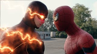 Spider-man: Homecoming Spider-Man vs The Flash FIGHT SCENE | Marvel vs DC 2017