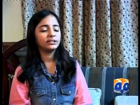 Arfa Karim singing Ankha Cham Cham Wasiyan on Tv.flv